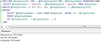 Sql Declare Temp Table Looping Through Table Records In Sql Server Sqlhints Com