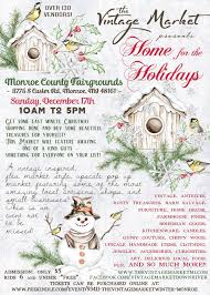 the vintage market presents home for the holidays county