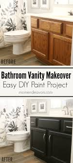 cabinets paint bathroom vanity makeover easy diy home paint project painted