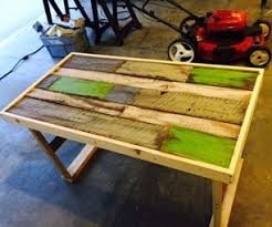 How To Make A Table Out Of Pallets Workshop Instructables