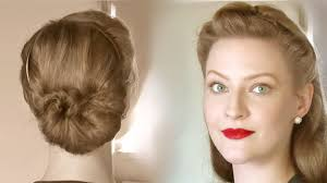 simple retro updos for everyday life different ages youtube