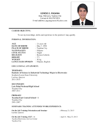 On The Job Training Resume by Genesis Resume Nf2