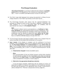investigation report template disciplinary hearing pnp pre charge evaluation and summary hearing guide