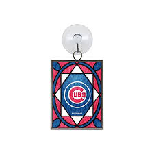 chicago cubs stained glass ornament suncatcher by topperscot at