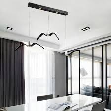 Seagull Chandelier Creative Seagull Chandelier Lamp Black White Modern Led Pendant