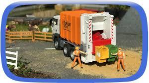 bruder garbage truck garbage truck for kids bruder toys vehicles for kids cartoon