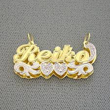 name pendant personalized gold name pendant with diamond 3d plate jewelry