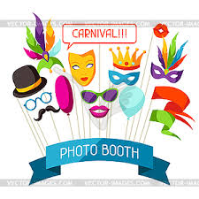 Photo Booth Accessories Photo Booth Props Accessories For Festiva Stock Vector Clipart
