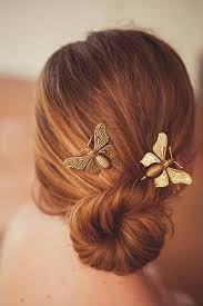 butterfly hair metallic butterfly design chic hair pin