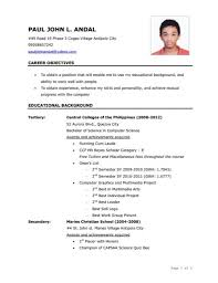 Sample Resume Objectives Ojt Students by Ojt Resume Objectives Best Free Resume Collection