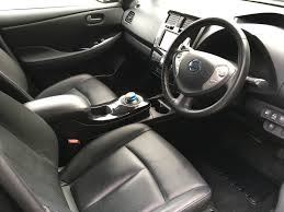 nissan leaf interior nissan leaf tekna black electric u0026 hybrid car specialists