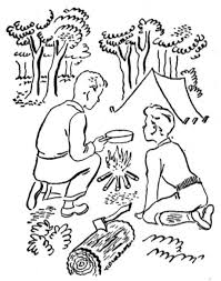 free coloring pages camping educational coloring pages