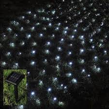 Solar Powered Patio Lights String by Babz 105 Led Outdoor Net String Christmas Fairy Lights Solar