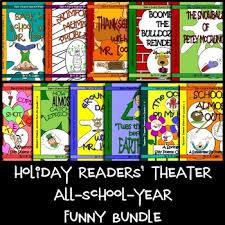 readers theater scripts all school year bundle grades