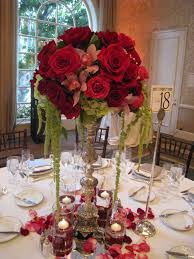 red rose wedding centerpieces ideas