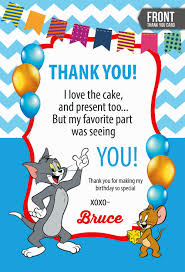 My Birthday Invitation Card Tom And Jerry Invitations Card Decorating Of Party