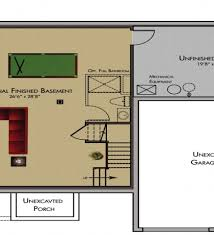 Ranch Floor Plans With Basement by Finished Basement House Plans Basement House Plans Also Referred