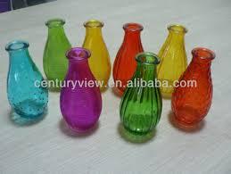 Colored Vases Wholesale Home Wedding Decorative Colored Glass Bottle Flower Vases Buy