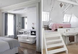 chambre salle de bain ouverte une salle de bains dans la chambre joli place