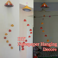 Hanging Wall Decor by Newspaper Craft Ideas Diy Wind Chime Newspaper Wall Decor
