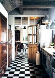 carrelage damier cuisine salle à manger commment bien choisir le carrelage damier noir et