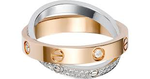 love rings pink images Cartier love 18ct pink gold white gold and diamond ring in white jpeg