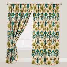 Colorful Patterned Curtains Striped Curtains Colorful Patterned Drapes World Market