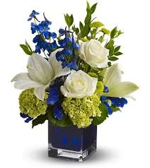 white flower arrangements white on blue flower shop florist in rapid city sd fancies