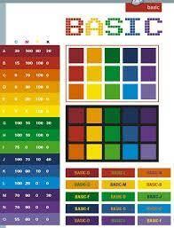 Flat Color Combination Basic Color Schemes Color Combinations Color Palettes For Print
