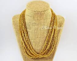 bead necklace gold images Gold bead necklace etsy jpg
