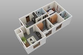 excellent simple house plan with 3 bedrooms 3d ideas best idea