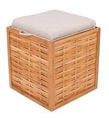 amazon com birdrock home bamboo storage ottoman storage box