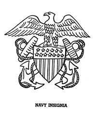 armed forces day coloring page us navy insigina veteran u0027s day