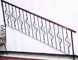 Iron Grill Design For Stairs Top Selling Artistic Iron Stair Handrail Grill Designs Buy