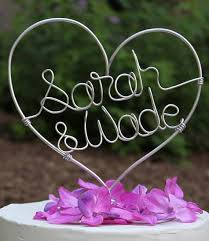 wire cake toppers personalized handmade wedding cake toppers being tazim