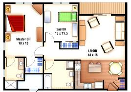 Pool House Plans With Bedroom by 25 More 2 Bedroom 3d Floor Plans Floor Plan Two Bedroom House