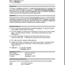 Sap Sd Consultant Resume Sample by Sap Fi Consultant Resume India Contegri Com