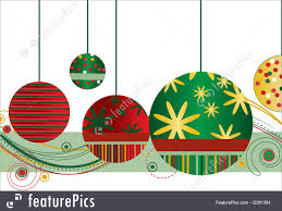christmas ornaments in red and green illustration