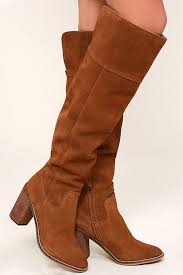 s boots knee high brown steve madden palisade suede leather boots knee high boots