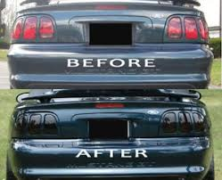 96 98 mustang tail lights 96 97 98 mustang smoked tinted tail light covers vinyl overlays 9