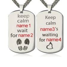 his and hers dog tags custom engraved dog tags for men