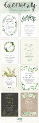 wedding invitations greenery best 25 green wedding invitations ideas on wedding