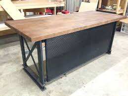 Industrial Style Reception Desk Custom Office Desks For Home Desktop Desk Name Plates The