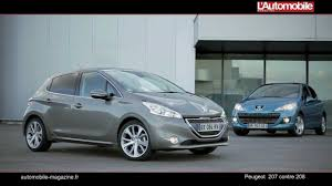 peugeot 207 contre 208 youtube