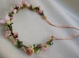 hair wreath pink bridal flower crown wedding hair wreath accessories boho halo