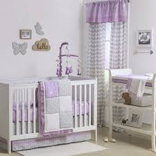 Zig Zag Crib Bedding Set The Peanut Shell 4 Piece Baby Girl Crib Bedding Set Purple