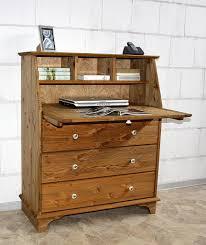 Schreibtisch Mit Schubladen Sekretär 92x110x42cm 3 Schubladen 1 Klappe Kiefer Massiv