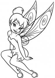 disney tinkerbell wings coloring pages sketch coloring