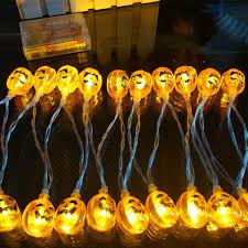 pumpkin light 10 20 led halloween lamp decorations for garden