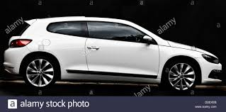 volkswagen white white vw scirocco 2 0 tsi three door coupe stock photo royalty